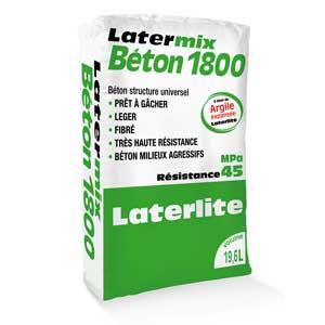 Latermix Béton 1800 : Béton fibré structurel allégé en sac